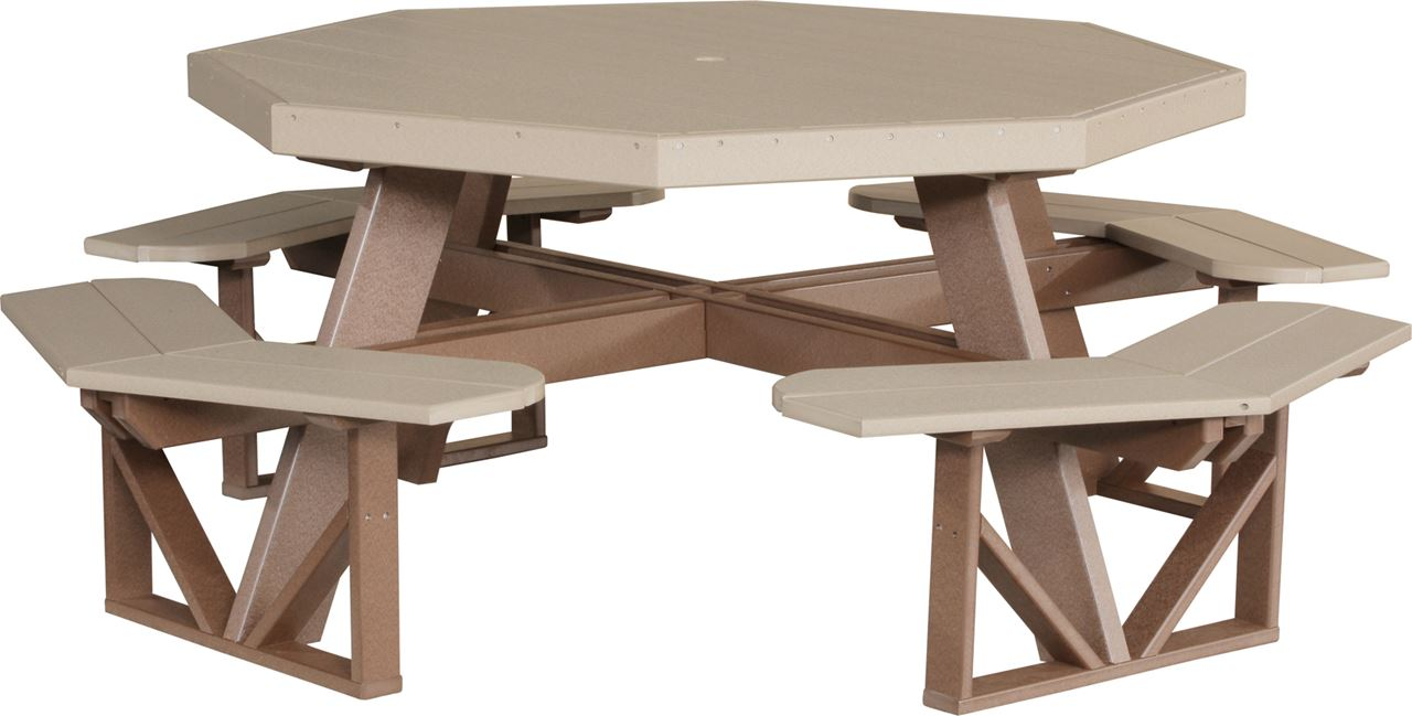 ... Picture Of LuxCraft Poly Picnic Table Octagon