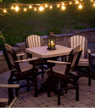 Picture of LuxCraft Poly Deluxe Adirondack Square Table Set