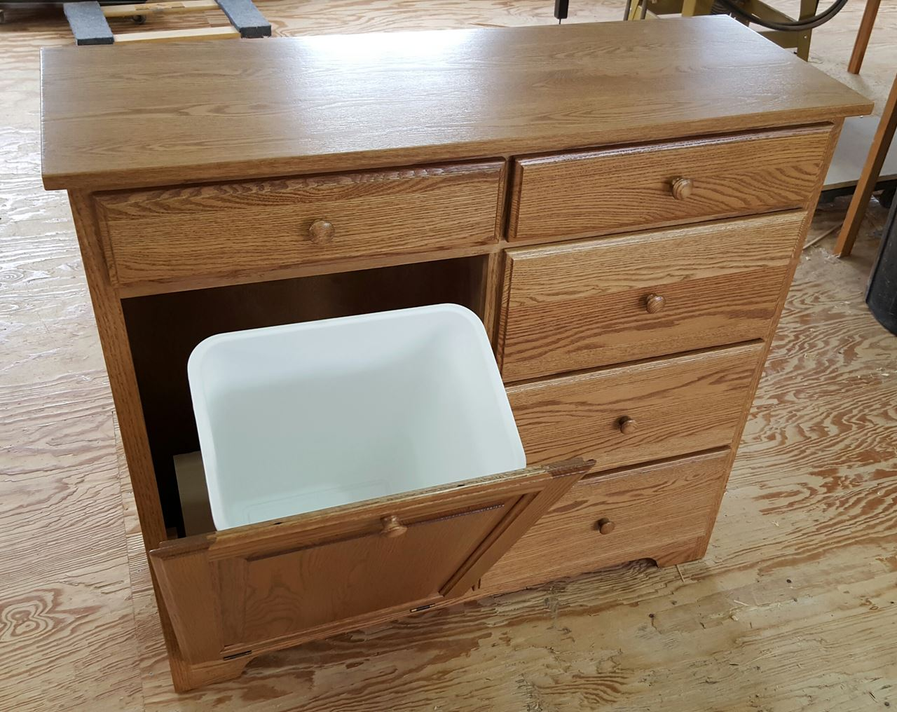 ... Picture Of Delux Tilt Out Trash Bin With 5 Storage Drawers ...