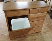 Picture of Delux Tilt out Trash bin with 5 storage drawers