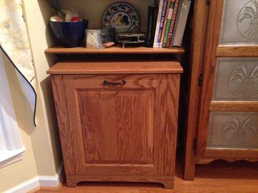 Picture of Amish Wooden Double tilt-out Trash Bin