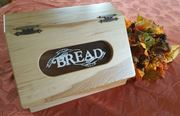 Picture of Solid Hickory Bread Box with Slant Top