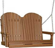 Picture of LuxCraft Poly Deluxe 4ft. Adirondack Swing