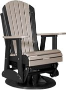 Picture of LuxCraft Poly 2ft. Deluxe Adirondack Swivel Glider