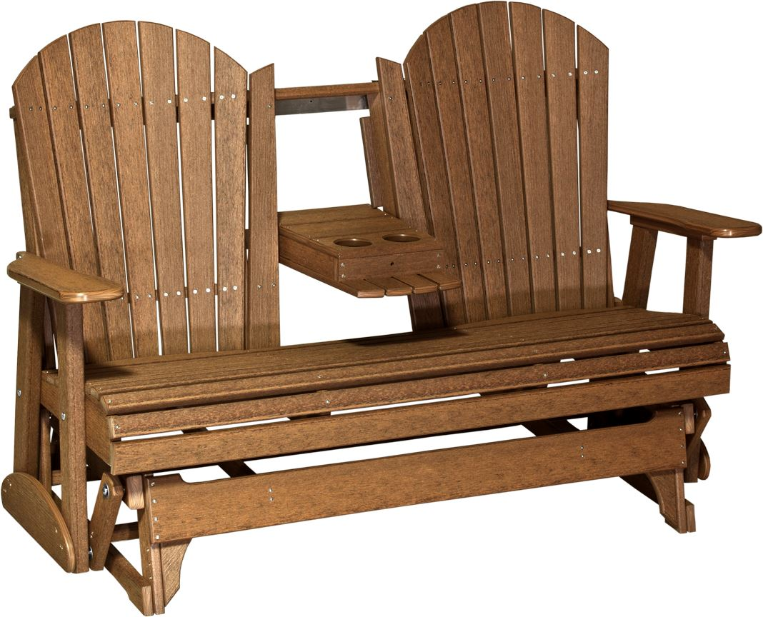 Deluxe Adirondack Glider ... - Four Seasons Furnishings-Amish Made Furniture . LuxCraft Poly 5ft