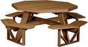 Picture of LuxCraft Poly Picnic Table Octagon