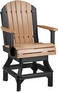 Picture of LuxCraft Poly Adirondack Swivel Bar Chair Captian's