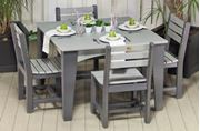 Picture of Poly Island Dining Square Table Set