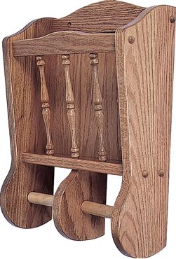 Picture of Solid Wood Magazine Rack and Toilet Paper Roll Holder Wall Mount