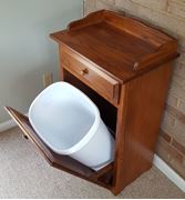 Picture of Amish made wooden Slim-line tilt-out Trash bin