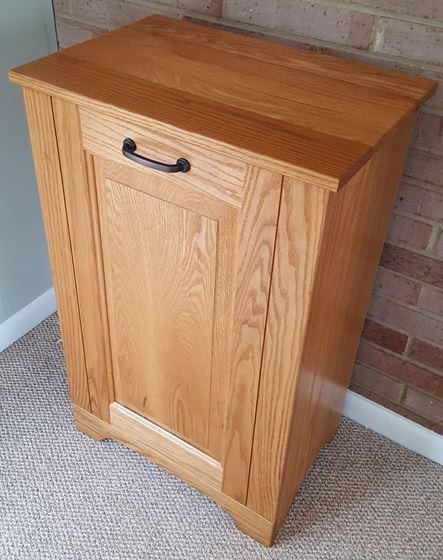 Single Wooden Tiltout Trash Bin