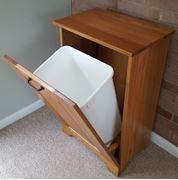 Picture of Single Wooden Tiltout Trash Bin