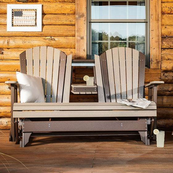 Picture of LuxCraft Poly 5ft. Adirondack Glider