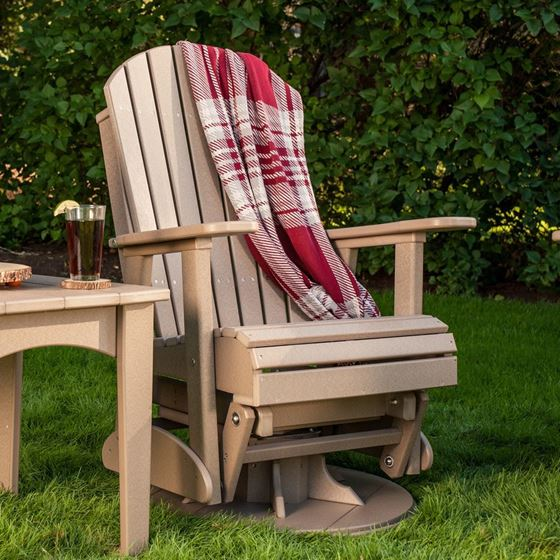 Picture of LuxCraft Poly 2ft. Adirondack Swivel Glider