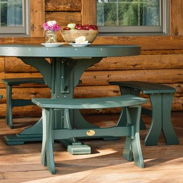 """Picture of LuxCraft Poly 28"""" Table Bench"""