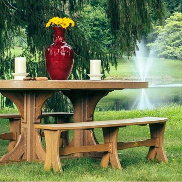"""Picture of LuxCraft Poly 52"""" Table Bench"""