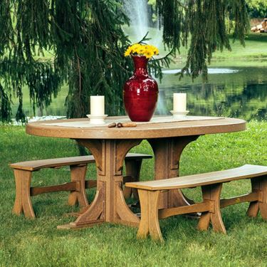 Picture of LuxCraft Poly 4' x 6' Oval Table
