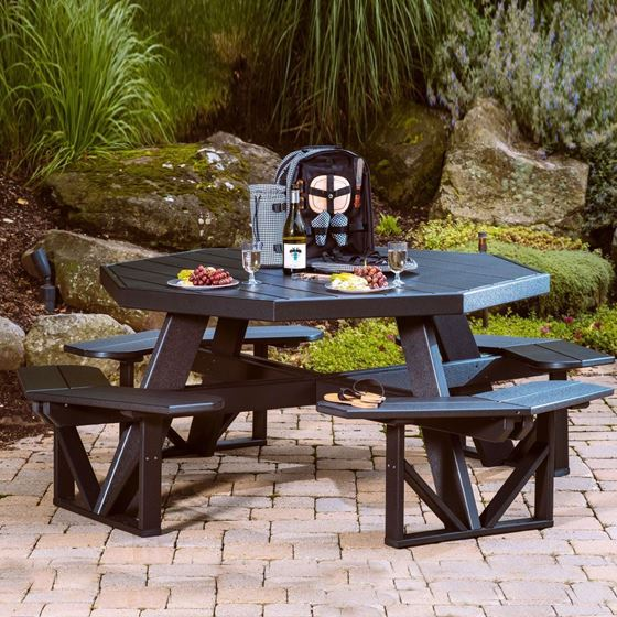 Picture of LuxCraft Poly Octagon Picnic Table