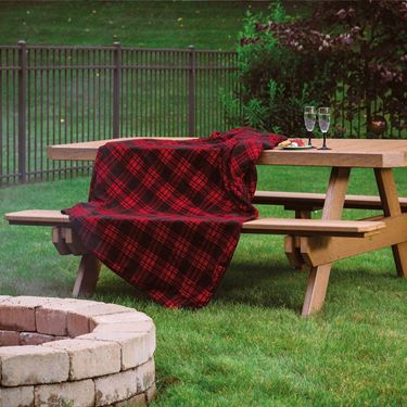 Picture of LuxCraft Poly 6' Rectangular Picnic Table