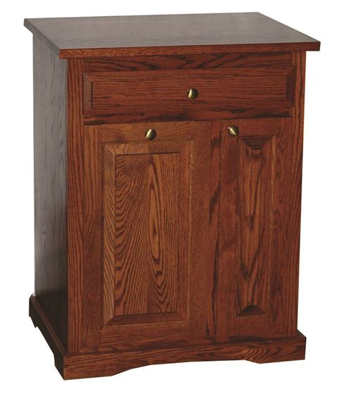 Trash Can with Drawer and Wine Cabinet (Closed)