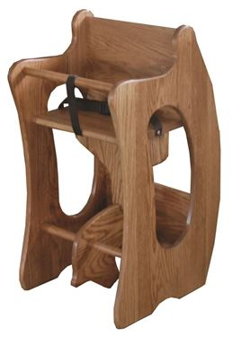 Picture of Amish Solid Wood Combination 3-in-1 Rocking Horse, High Chair, Desk