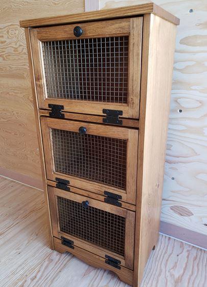 Picture of Solid Pine Vegetable Bin with 3 doors